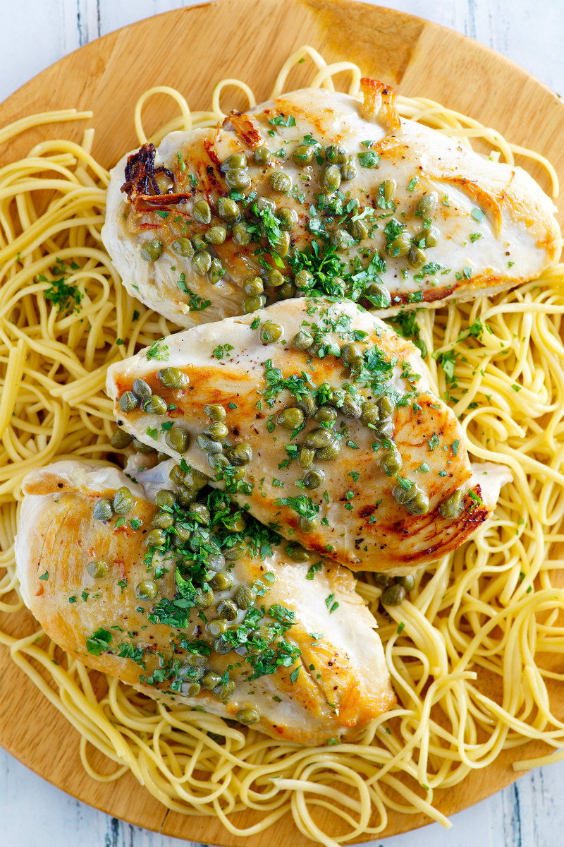 Chicken with Lemon Caper Sauce